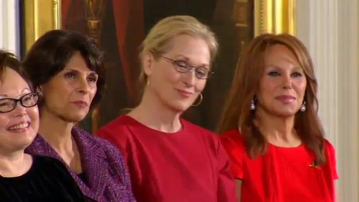 Video: Obama over Meryl Streep