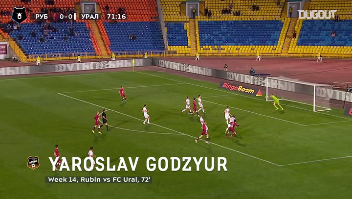 Yaroslav Godzyur keeps clean sheet intact vs Rubin Kazan