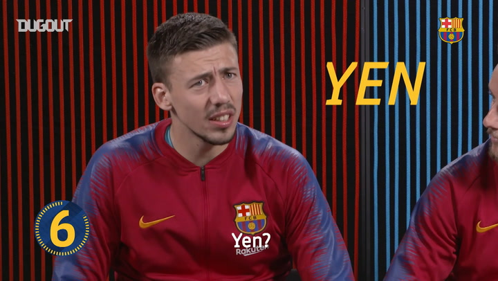 Seven Second Challenge: Lenglet vs Rakitic