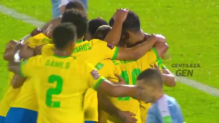 Un imparable Brasil derrota a un Uruguay (2-0) sin Suárez
