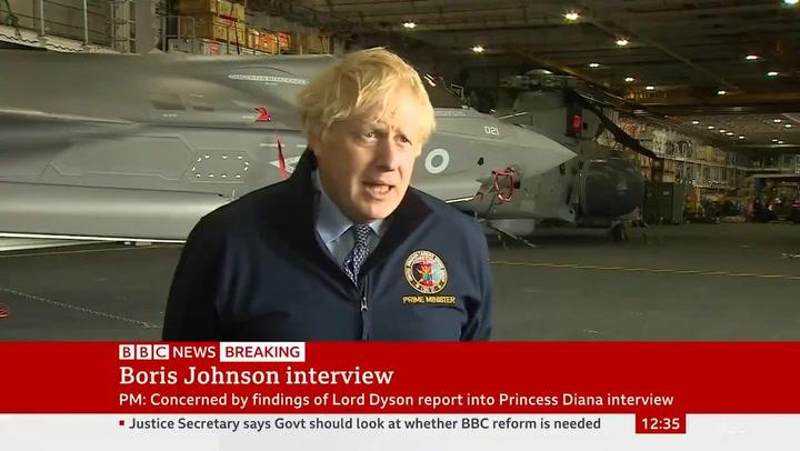 Boris Johnson expresses concerns over report's findings on Martin Bashir's Princess Diana interview