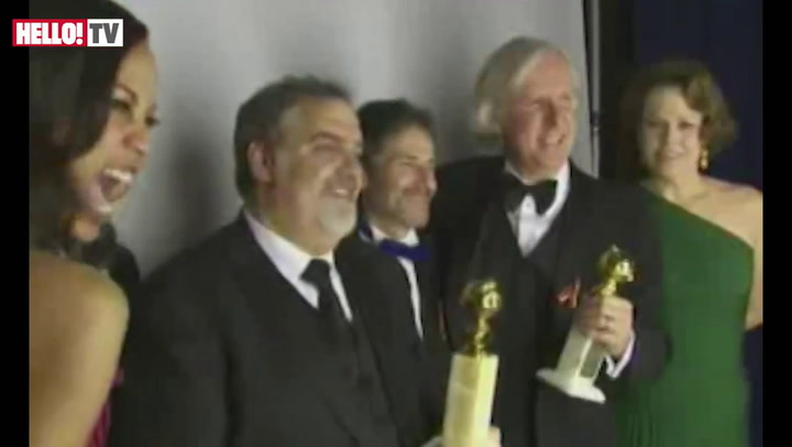 Backstage at the Golden Globes