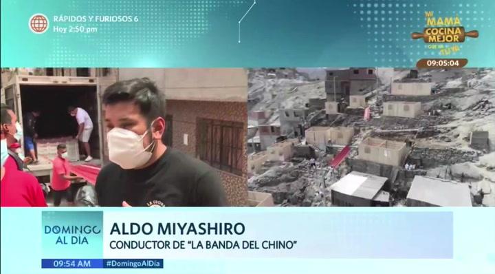 Aldo Miyashiro continúa campaña solidaria tras vencer el COVID-19