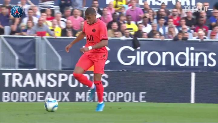 Neymar Finish From Mbappé's Run vs Bordeaux