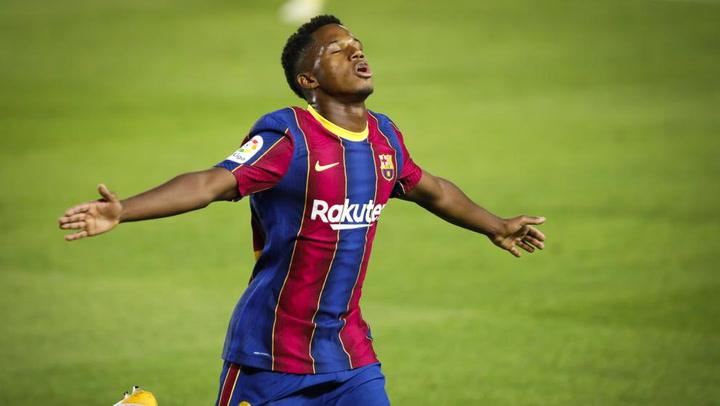 Los números de Ansu Fati con el FC Barcelona