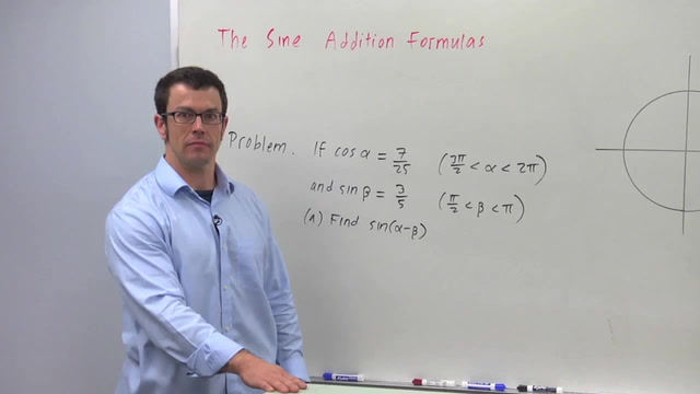 The Sine Addition Formulas - Problem 3