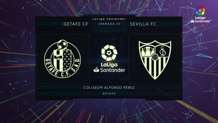 LaLiga Santander (J25): Resumen y goles del Getafe 0-3 Sevilla