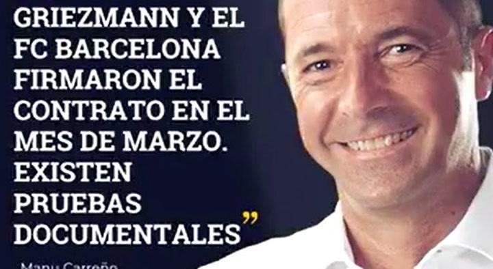 Griezmann firmó el acuerdo con el Barça en marzo, según la SER