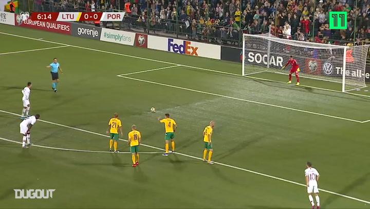 Cristiano Ronaldo Scores Four Against Lithuania