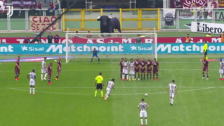 Andrea Pirlo's pinpoint free-kick vs Torino