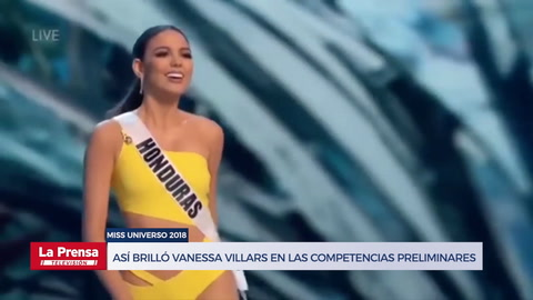 Así brilló la hondureña Vanessa Villars en las competencias preliminares al Miss Universo 2018