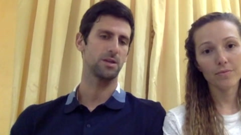 Djokovic dona un millón de euros contra el coronavirus en Serbia