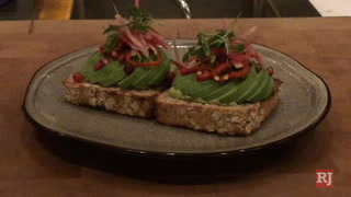 Making avocado toast at Chica at The Venetian in Las Vegas