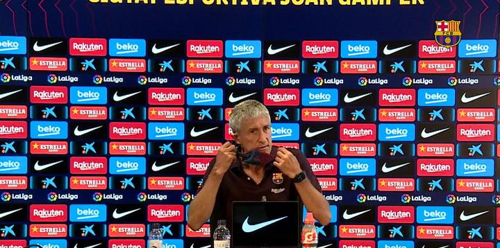 La rueda de prensa de Quique Setién previa al partido contra el Villarreal
