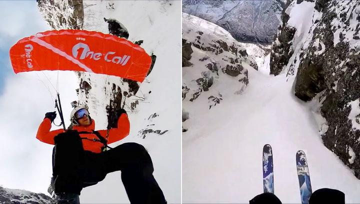 Se Morten suse nedover fjellet i heseblesende tempo