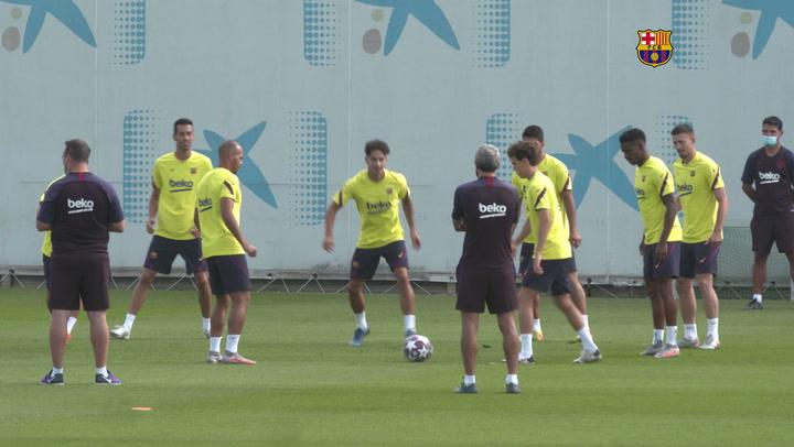 Primer entrenamiento del Barça pensando en el Bayern Múnich