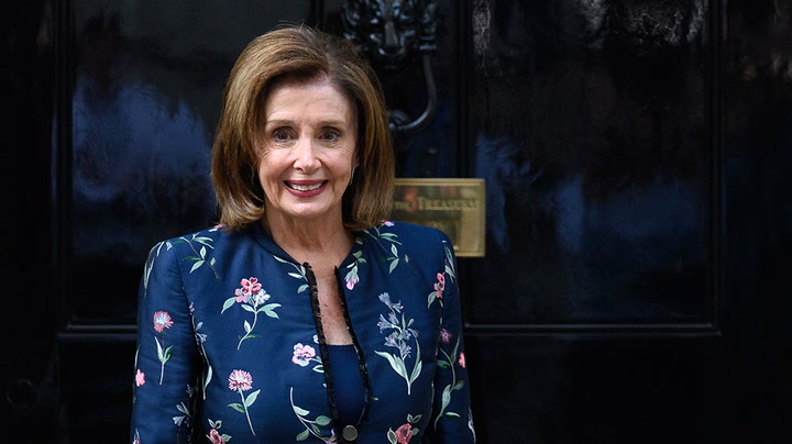 Watch live as Nancy Pelosi speaks in London on 'state of American democracy'