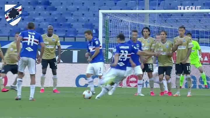Manolo Gabbiadini's free-kick masterclass against SPAL