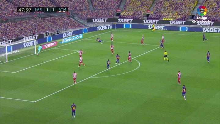 Gol de Messi, p. (2-1) en el Barcelona 2-2 Atlético