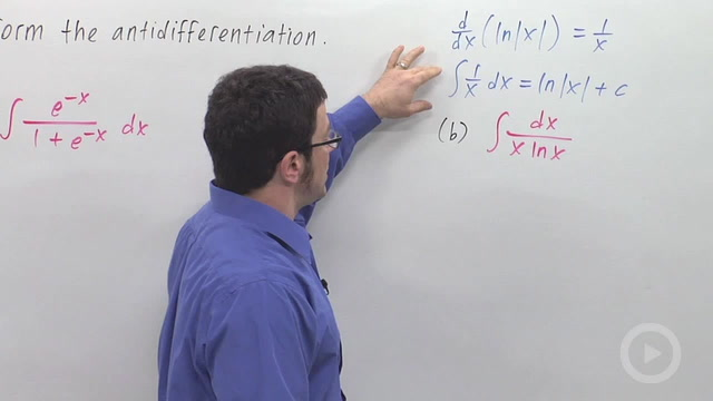 Substitutions Involving e^x or ln(x) - Problem 3