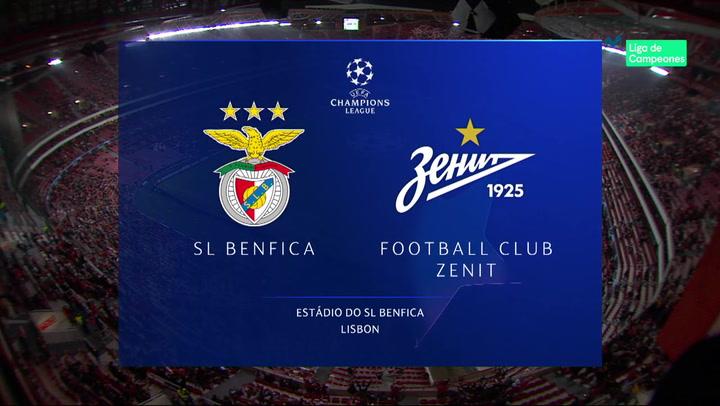 Champions League Resumen y Goles del Benfica - Zenit