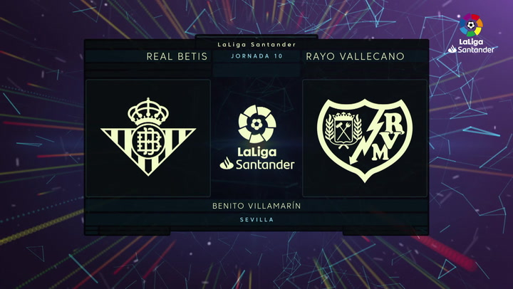 LaLiga (J10): Resumen y goles del Betis 3-2 Rayo Vallecano