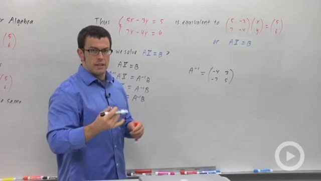 Solving Linear Systems Using Matrix Algebra