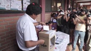 Votación presidencial en Bolivia con difícil reto para Evo Morales