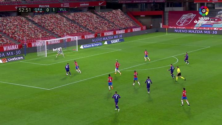 Gol de Marcos André (0-2) en el Granada 1-3 Valladolid