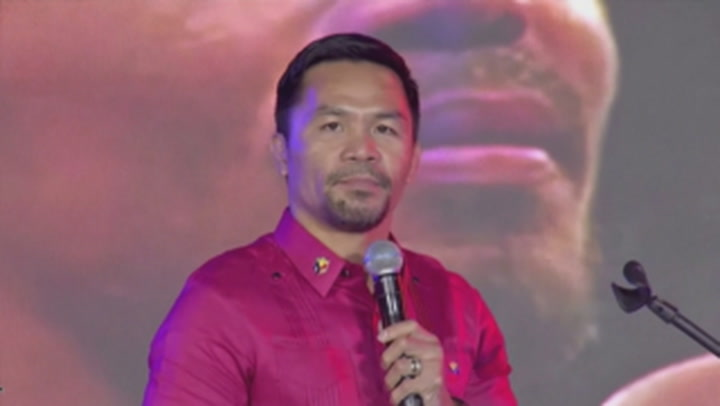 Boxer Manny Pacquiao to run for Philippines president
