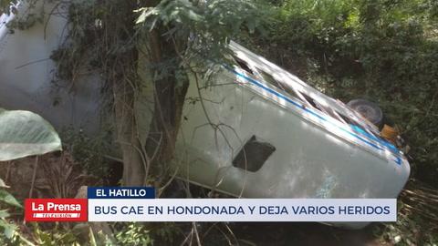Bus Cae En Hondonada Y Deja Varios Heridos