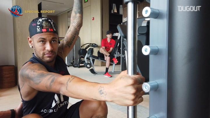 Neymar Jr Trains Hard In Shenzhen