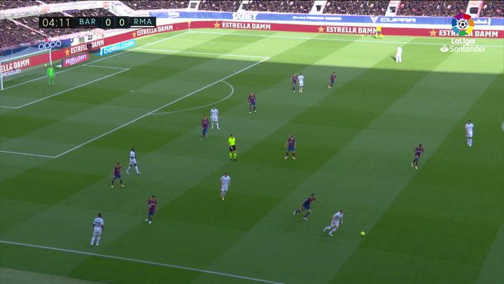 Gol de Fede Valverde (0-1) en el Barcelona 1-3 Real Madrid