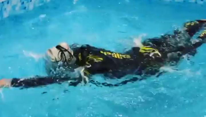 Judith Corachán prepara un Ironman en una piscina inflable por el coronavirus