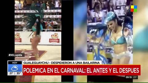 Modo normal: apareció un nuevo video de la pasista de la polémica del carnaval de Gualeguaychú