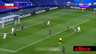 Bayern Múnich le está dando una paliza al Barcelona en los cuartos de final de la Champions League