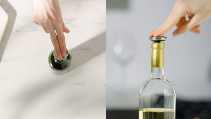 Preview image of OXO Spillproof Wine Stopper video
