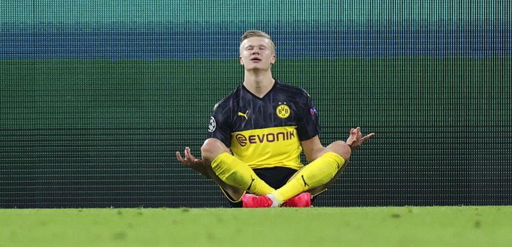 Champions League: Borussia Dortmund-PSG. Doblete de Haaland