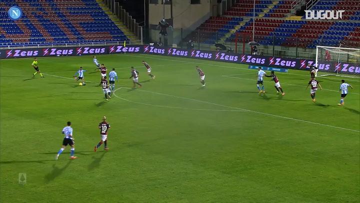Napoli's 4-0 away win against Crotone