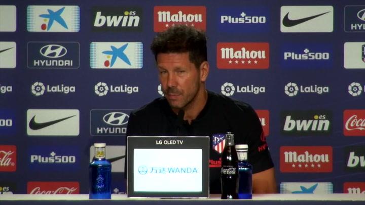 Rueda de prensa de Simeone previa al partido contra el Getafe