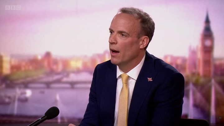 UK has not broken 'formal commitments' with aid cuts, Raab says