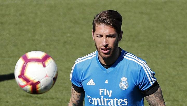 Sergio Ramos sigue trabajando al margen del grupo