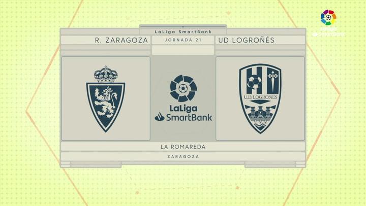 LaLiga Smartbank (Jornada 21): Zaragoza 2-0 Logroñés