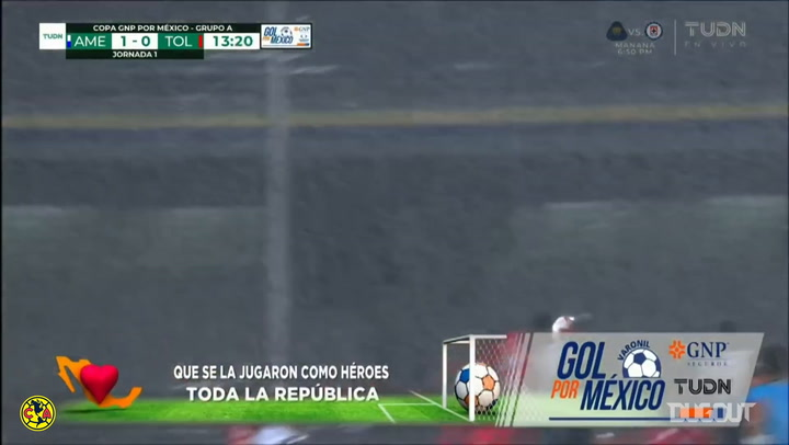Club América's goals vs Toluca in the GNP Cup
