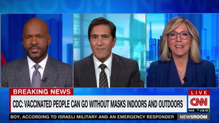 CNN's Camerota on CDC Dropping Mask Requirements: I'm 'Welling Up' -- It Feels 'Like It's Over'