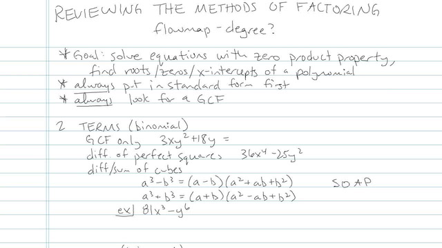 Review of the Methods of Factoring - Problem 7