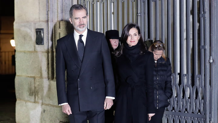 Los Reyes acuden al funeral de Plácido Arango