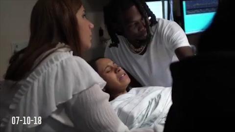 Offset comparte un breve vídeo de Cardi B dando a luz