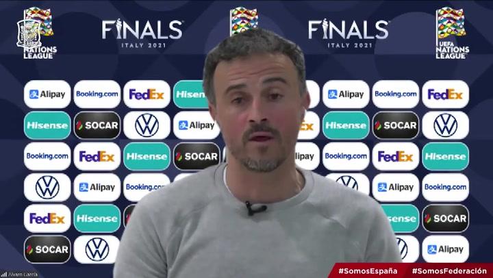 La rueda de prensa de Luis Enrique completa tras el sorteo de la Nations League