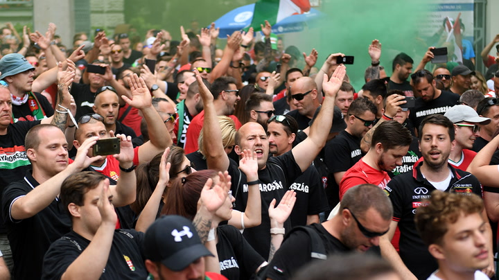 Watch live as fans gather to watch Hungary v Germany in Munich